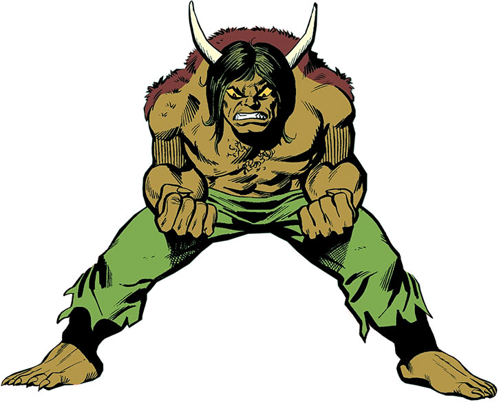 Angry Man-Bull over a white background (Marvel Comics)