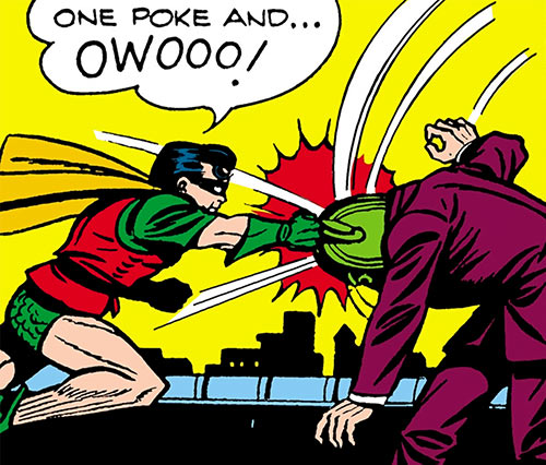 Man in the Iron Mask (Batman) (DC Comics) Robin punches