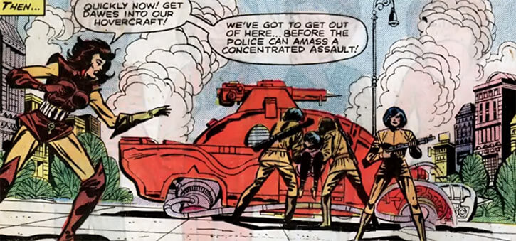 Man-Killer (Marvel Comics) (van Horn classic) with tank and troops