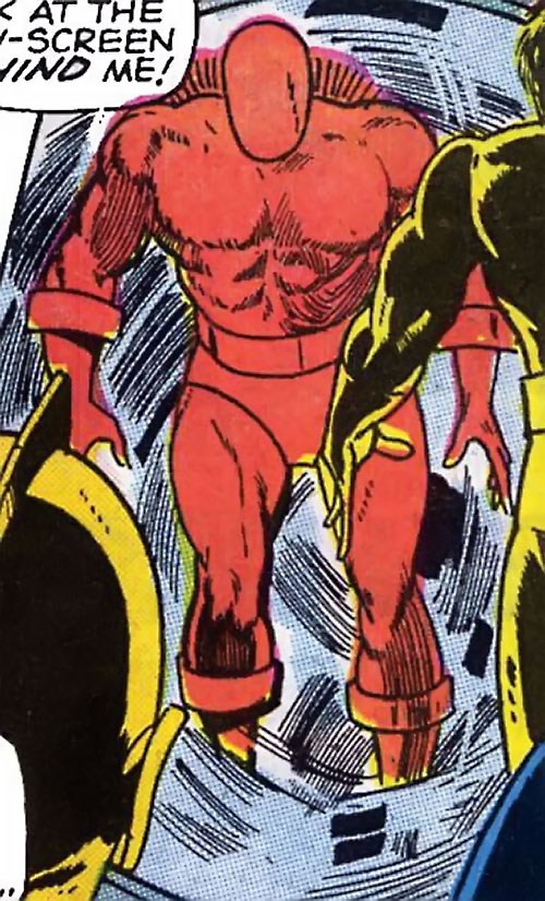 Man Slayer (Captain Mar-Vell enemy) (Marvel Comics) in a blue whirlwind