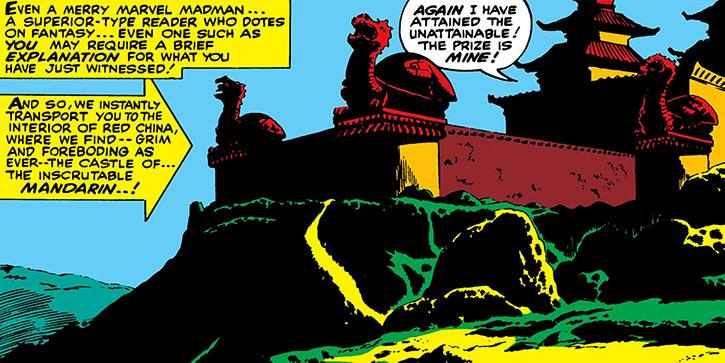 The castle of the Mandarin (Marvel Comics Iron Man)