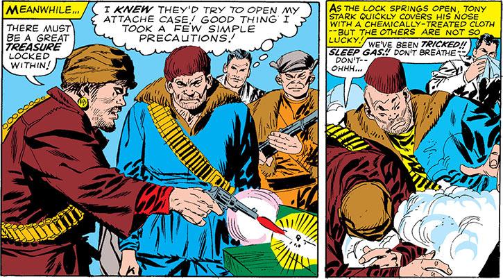 Chinese bandits serving the Mandarin rob Tony Stark