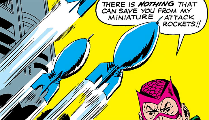 The Mandarin's miniature attack rockets (Marvel Iron Man)