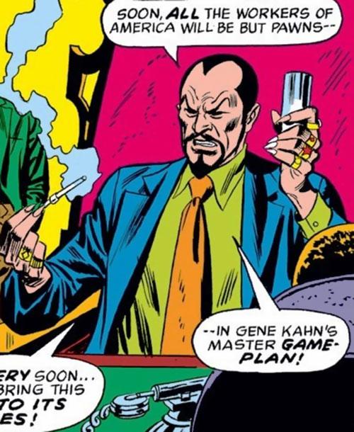 The early Mandarin (Iron Man enemy) (Marvel Comics) as Gene Kahn
