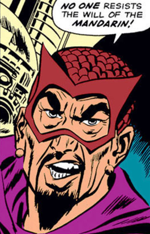 The early Mandarin (Iron Man enemy) (Marvel Comics) with brown headgear