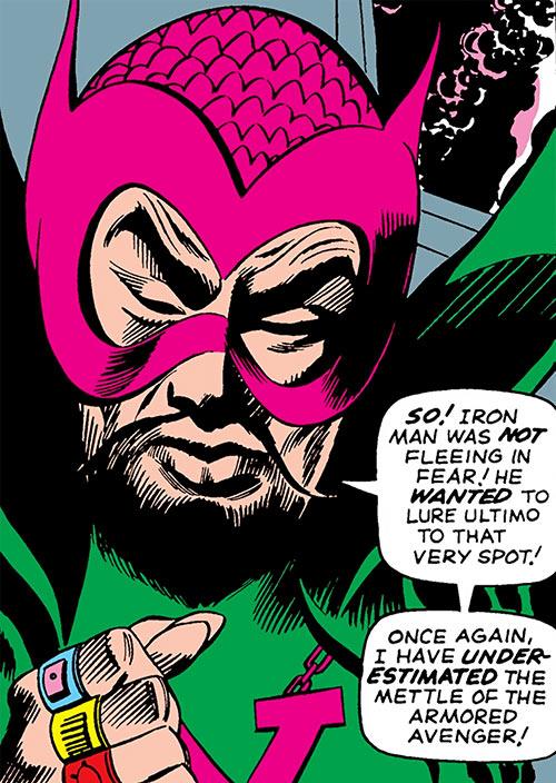 The early Mandarin (Iron Man enemy) (Marvel Comics) is pensive