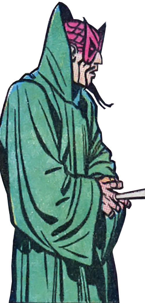 The early Mandarin (Iron Man enemy) (Marvel Comics) with a green cloak