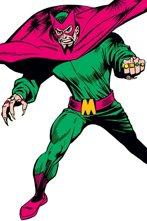 The early Mandarin (Iron Man enemy) (Marvel Comics) with a cape