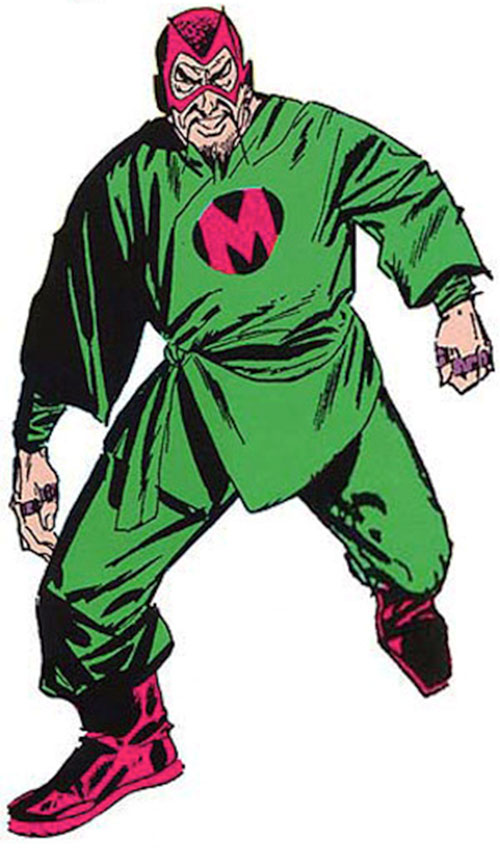 The early Mandarin (Iron Man enemy) (Marvel Comics) without a cape