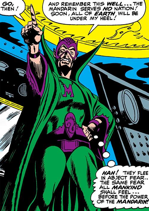 The early Mandarin (Iron Man enemy) (Marvel Comics) low angle shot