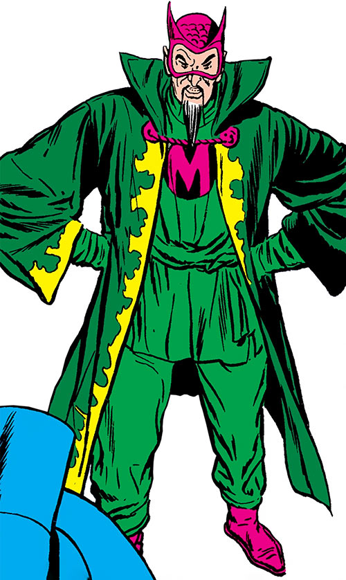 The early Mandarin (Iron Man enemy) (Marvel Comics) with a combination cape and cloak