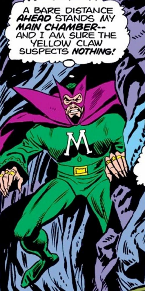 The early Mandarin (Iron Man enemy) (Marvel Comics) in a narrow cavern