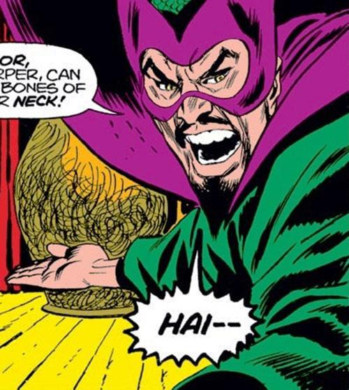 The early Mandarin (Iron Man enemy) (Marvel Comics) ready to karate chop