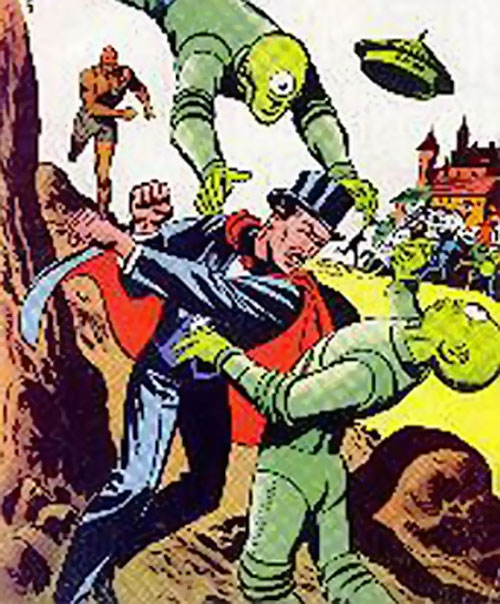 Mandrake the Magician fights aliens