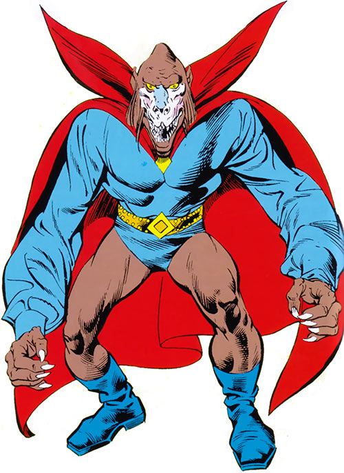 Mandrill (Marvel Comics) over a white background