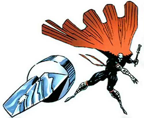 Manhunter (Chase Lawler) (DC Comics) throwing a blade
