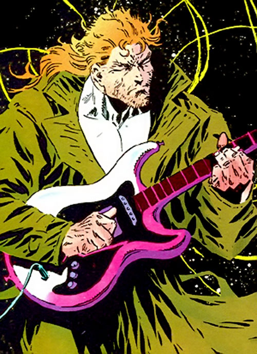 Manhunter (Chase Lawler) (DC Comics) playing the guitar
