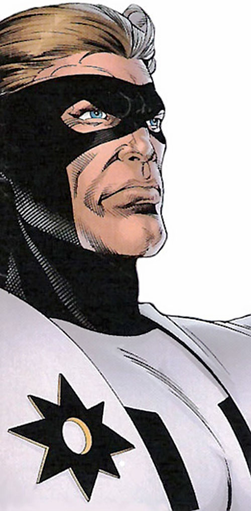 Manhunter of the Power Company (DC Comics) face closeup