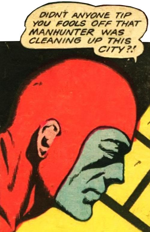 Manhunter (Golden Age) (Paul Kirk) (DC Comics) face closeup