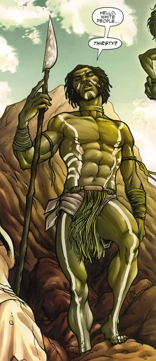 Manifold (Eden Fesi of the Secret Warriors) (Marvel Comics) in aboriginal garb