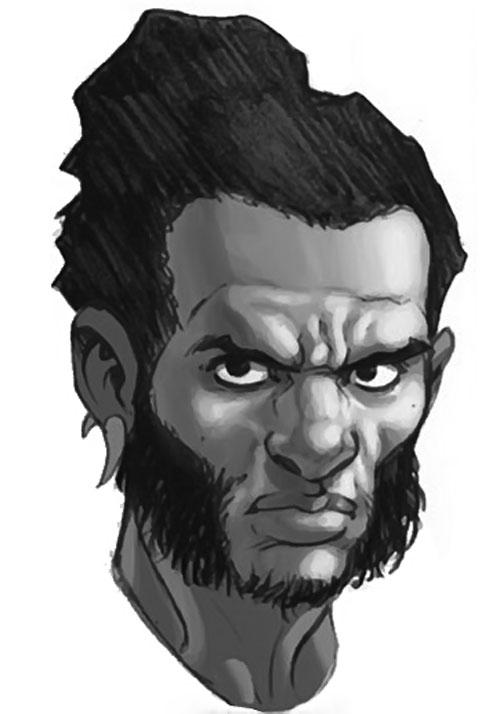 Manifold (Eden Fesi of the Secret Warriors) (Marvel Comics) B&W portrait