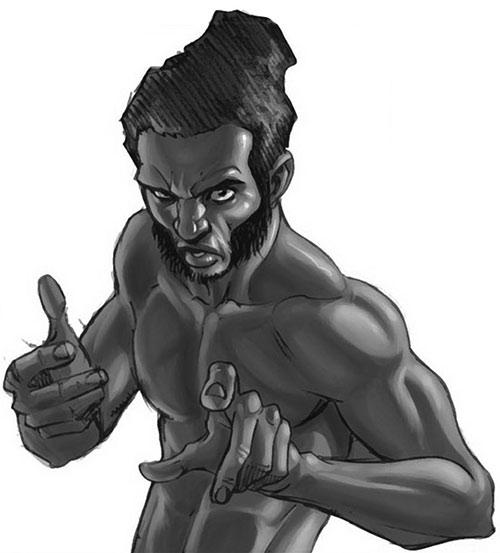Manifold (Eden Fesi of the Secret Warriors) (Marvel Comics) B&W art