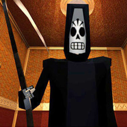 Manny Calavera (Grim Fandango video game) in his grim reaper suit