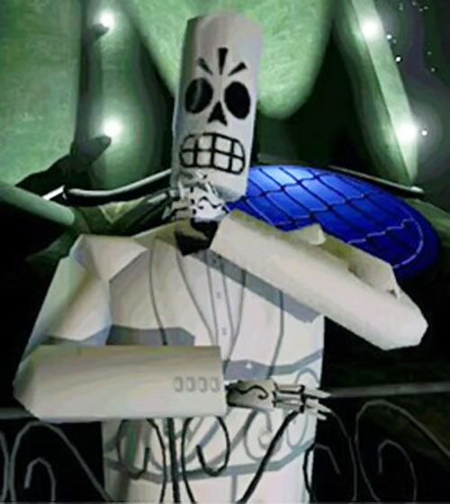 Manny Calavera (Grim Fandango video game) in his white jacket