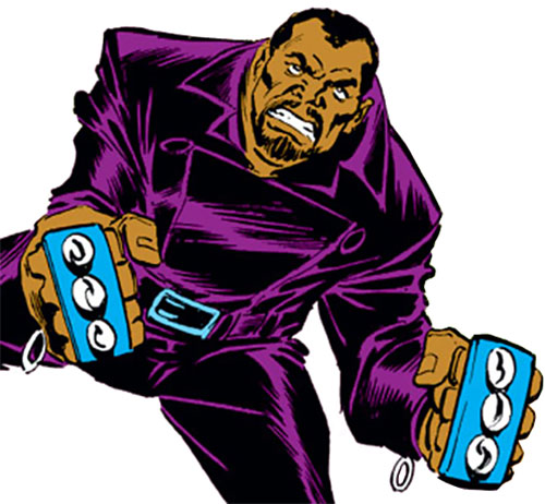 Manslaughter Marsdale (Marvel Comics) brandishing his brass knuckles
