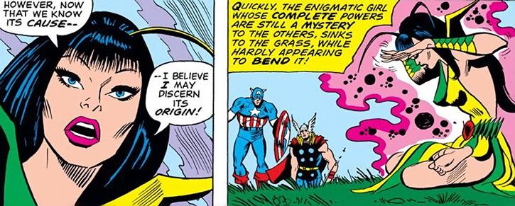 Mantis meditates on magic to help the Avengers