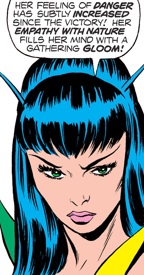 Mantis (Marvel Comics) (Avengers) gloomy face