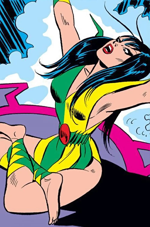 Mantis (Marvel Comics) (Avengers) using magic