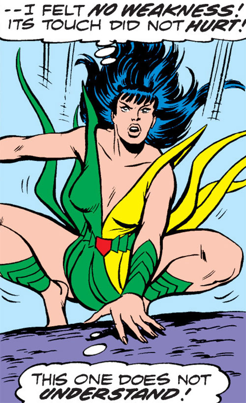Mantis (Marvel Comics) (Avengers) landing on her feet