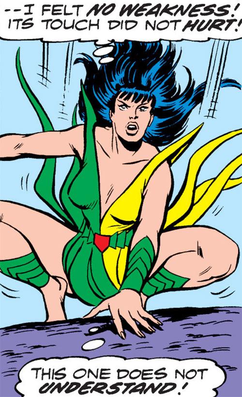 Mantis (Marvel Comics) (Avengers) landing on her feet