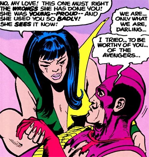 Mantis (Marvel Comics) (Avengers) and the Swordsman