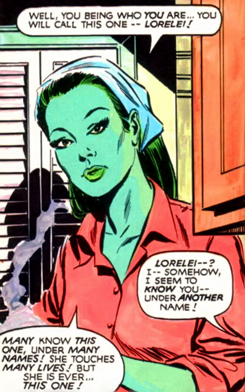 Mantis (Celestial Madonna) as Lorelei