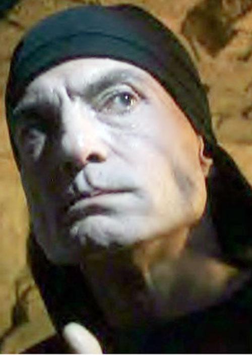 Mantrid (Dieter Laser in LEXX) face closeup