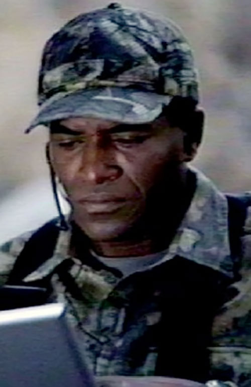 Marcus Dixon (Carl Lumbly in Alias) in a military field uniform