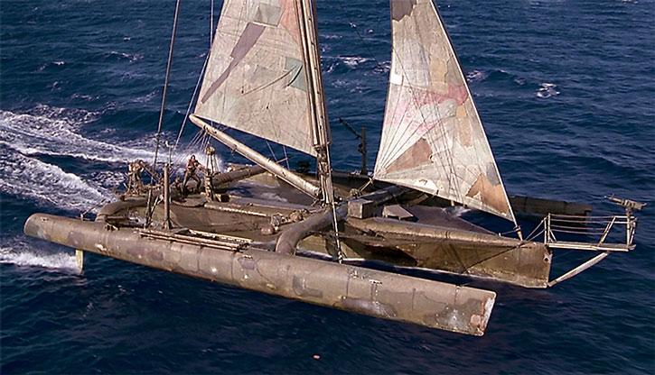 Mariner's sail ship in Waterworld