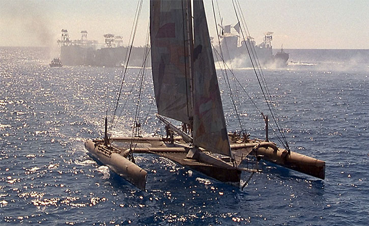 The trimaran in Waterworld