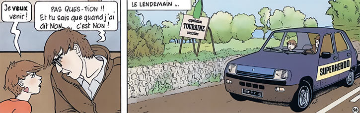 Marion Duval - France BD Comics - Arguing with her father