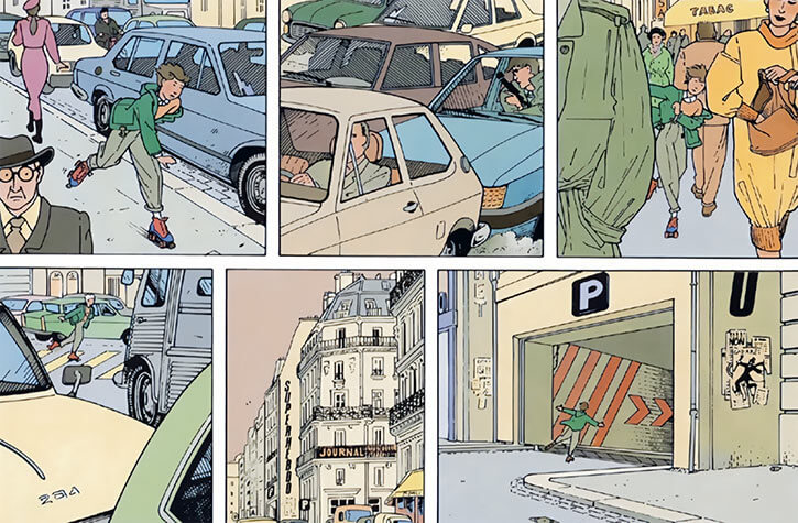 Marion Duval - France BD Comics - Roller skating in Paris