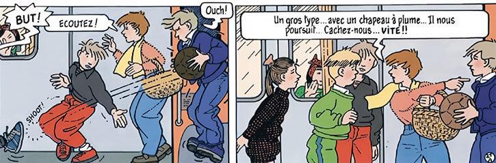 Marion Duval - France BD Comics - Football-playing kids