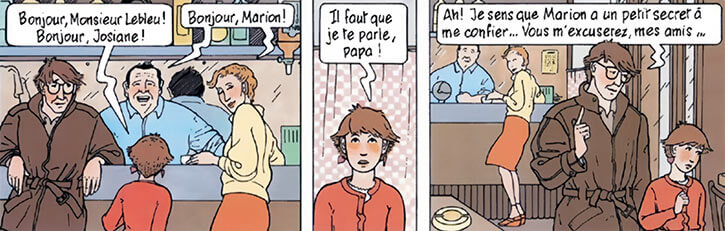 Marion Duval - France BD Comics - At a café