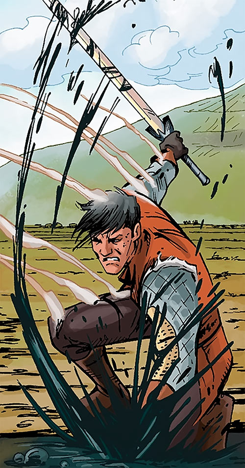 Marius the Magekiller - Dragon Age comics - Rucka - Slashing black goo