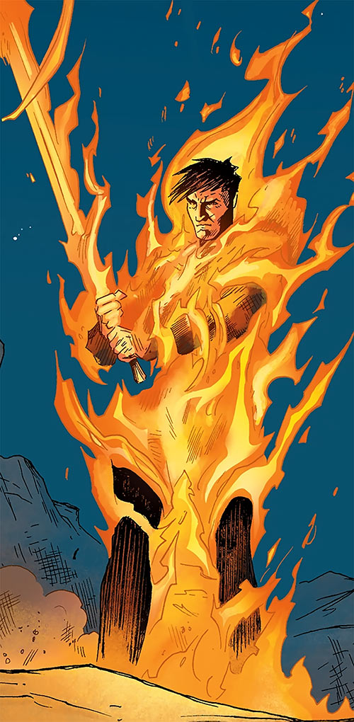 Marius the Magekiller - Dragon Age comics - Rucka - Burning aflame