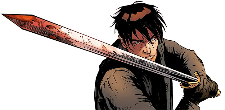 Marius the Magekiller - Dragon Age comics - Rucka - Bloody longsword