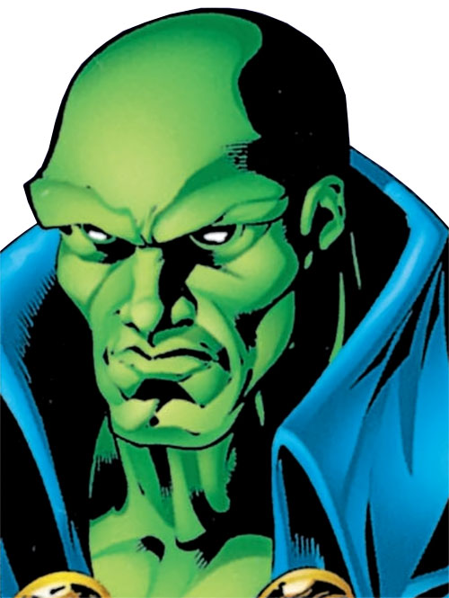 Martian Manhunter face closeup