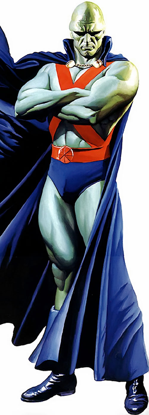 Martian Manhunter with crossed arms, painted art