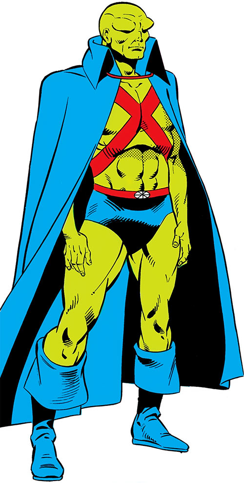 Martian Manhunter (DC Comics) 1980s art over a white background